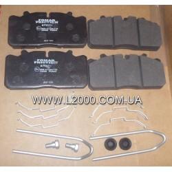 29088 Колодки тормозные зад/перед MAN L2000 (с пластинами). FOMAR
