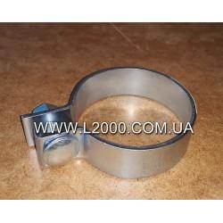 Хомут приемной выхлопной трубы MAN L2000, LE (под трубу 85,5 мм). DINEX