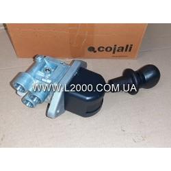 Кран стояночного тормоза MAN L2000, LE 9617231120 (на 3 трубки). COJALI